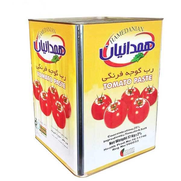 عکس شاخص رب گوجه فرنگی همدانیان حلب 17 کیلوگرمی