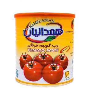 عکس شاخص رب گوجه فرنگی همدانیان قوطی 800 گرمی