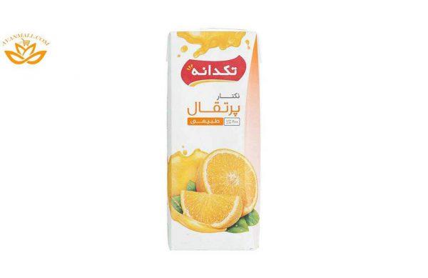 آب پرتقال 200 میلیلیتری تکدانه در کارتن 32 عددی