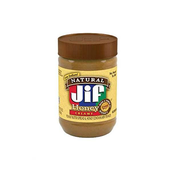 عکس شاخص،کره بادام زمینی عسلی بدون گلوتن 454 گرمی جیف در کارتن 12 عددی