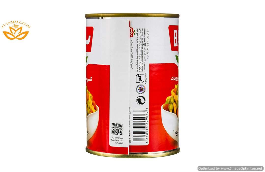 کنسرو مخلوط سبزیجات 430 گرمی بدر در کارتن 12 عددی04