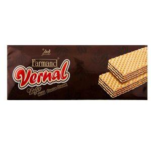 ویفر ورنال 80 گرمی فرمند با طعم کاکائویی در 4 جعبه 12 عددی