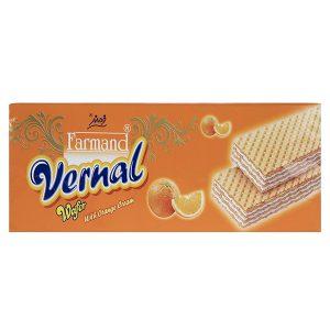 ویفر ورنال 190 گرمی فرمند با طعم پرتقالی در کارتن 12 عددی