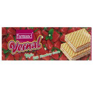 ویفر ورنال 80 گرمی فرمند با طعم توت فرنگی در 4 جعبه 12 عددی
