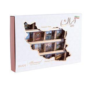 عکس شاخص شکلات کادوئی رگالو 106 گرمی طرح ایران در کارتن 8 عددی