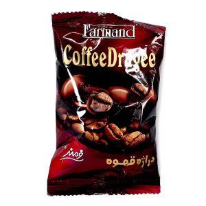 شوکو دراژه مغز قهوه پاکتی 60 گرمی فرمند در کارتن 72 عددی