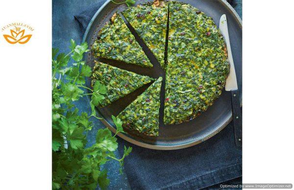 سبزی کوکو خرد شده آماده مصرف در بسته 5 کیلوگرمی