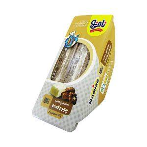 کلاب سبوس دار پنیر و گردو نامی نو در کارتن 24 عددی