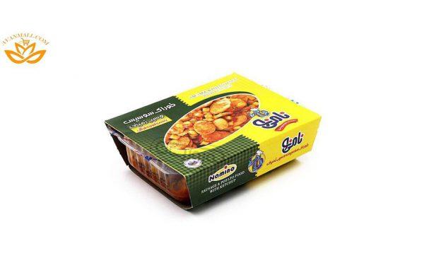خوراک سوسیس و سیب زمینی 200 گرمی نامی نو در کارتن 30 عددی