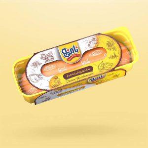 عکس شاخص ساندویچ باگت فیله مرغ نامی نو در کارتن 24 عددی
