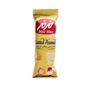 عکس شاخص،بادام زمینی روکش دار پنیری مزمز در کارتن 24 عددی
