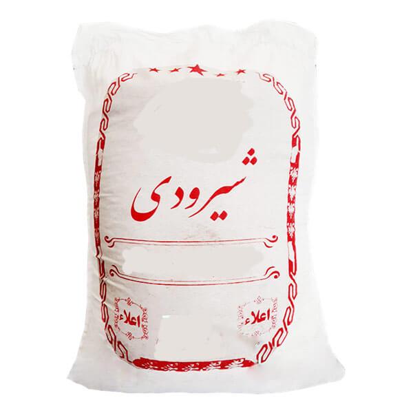 عکس شاخص،برنج شیرودی اعلا در کیسه 10 کیلویی