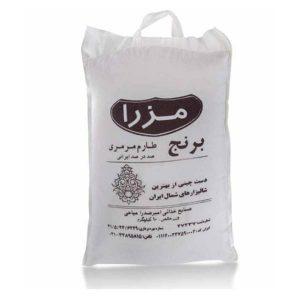 عکس شاخص برنج طارم مرمری مزرا در کیسه 10 کیلویی