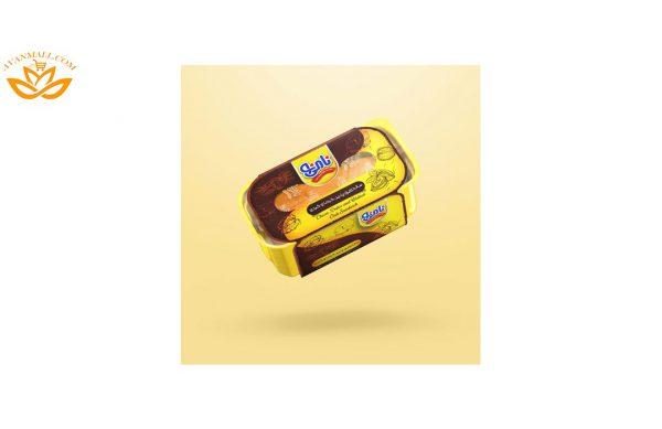 ساندویچ نیم باگت پنیر، گردو و خرما نامی نو در کارتن 24 عددی