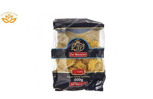 ماکارونی فرمی سوپی آشیانه ای زر ماکارون در 5 بسته 500 گرمی