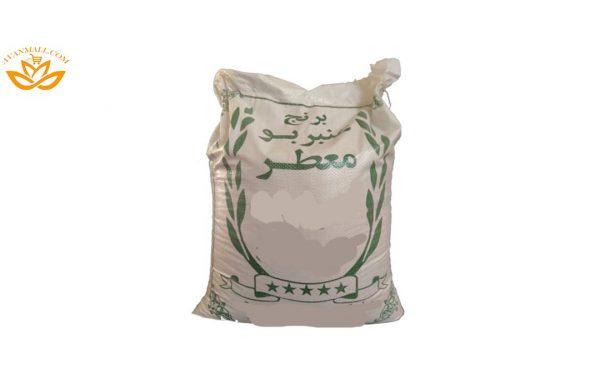 برنج عنبر بو اعلا درجه دو در کیسه 10 کیلویی