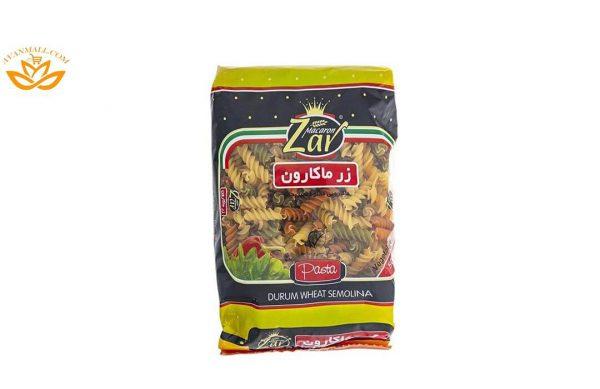 پاستا مته ای سبزیجات زر ماکارون در 10 بسته 500 گرمی