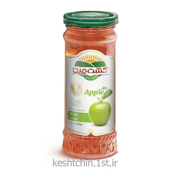 عکس شاخص مربا سیب 280 گرمی کشت چین در کارتن 6 عددی