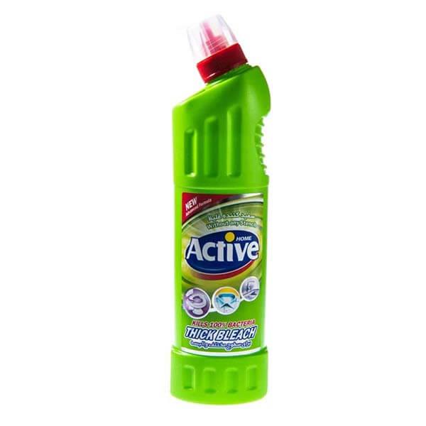 عکس شاخص-مایع سفیدکننده غلیظ سبز 750 گرمی اکتیو در کارتن 12 عددی