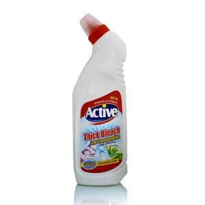 مایع سفیدکننده غلیظ سفید 750 گرمی اکتیو در کارتن 12 عددی