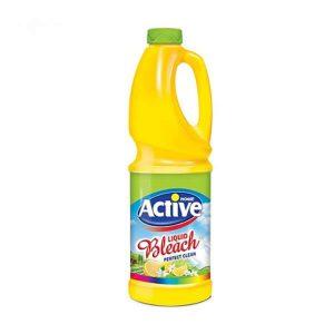 مایع سفیدکننده لیمویی زرد 1 لیتری اکتیو در کارتن 12 عددی