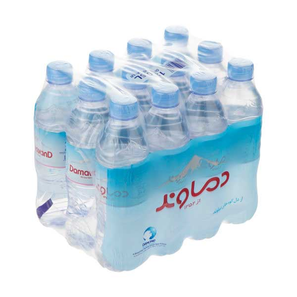 آب معدنی دماوند حجم ۵۰۰ میلیلیتر باکس ۱۲ عددی