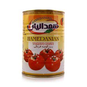 عکس شاخص رب گوجه فرنگی همدانیان حلب 4.5 کیلوگرمی