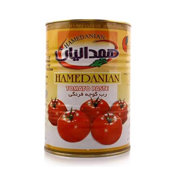 رب گوجه فرنگی همدانیان حلب ۴٫۵ کیلوگرمی کارتن ۴ عددی
