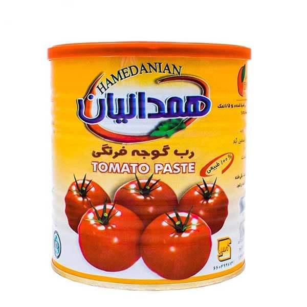 رب گوجه فرنگی همدانیان قوطی ۸۰۰ گرمی کارتن ۱۲ تایی