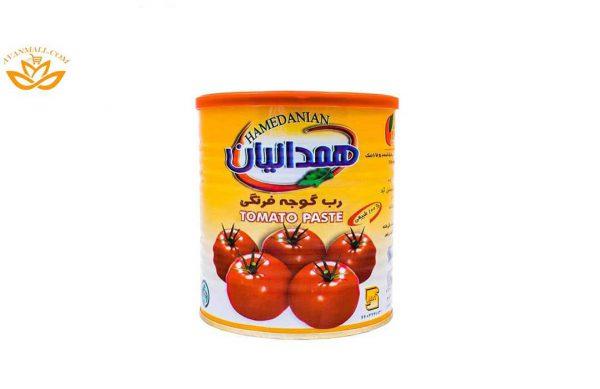 رب گوجه فرنگی همدانیان قوطی 800 گرمی کارتن 6 تایی