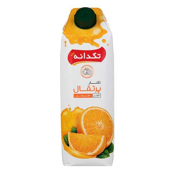 نکتار ۱ لیتری تکدانه با طعم پرتقال در کارتن ۱۰ عددی