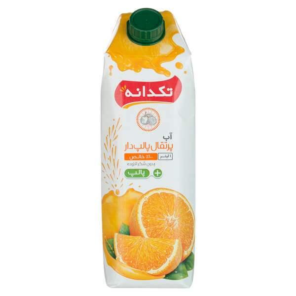 عکس شاخص آب پرتقال 1 لیتری تکدانه در کارتن 10 عددی