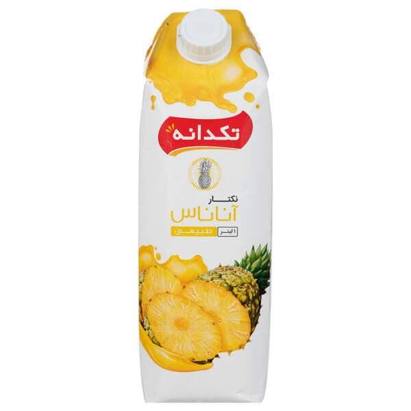 آب آناناس ۱ لیتری تکدانه در کارتن ۱۰ عددی