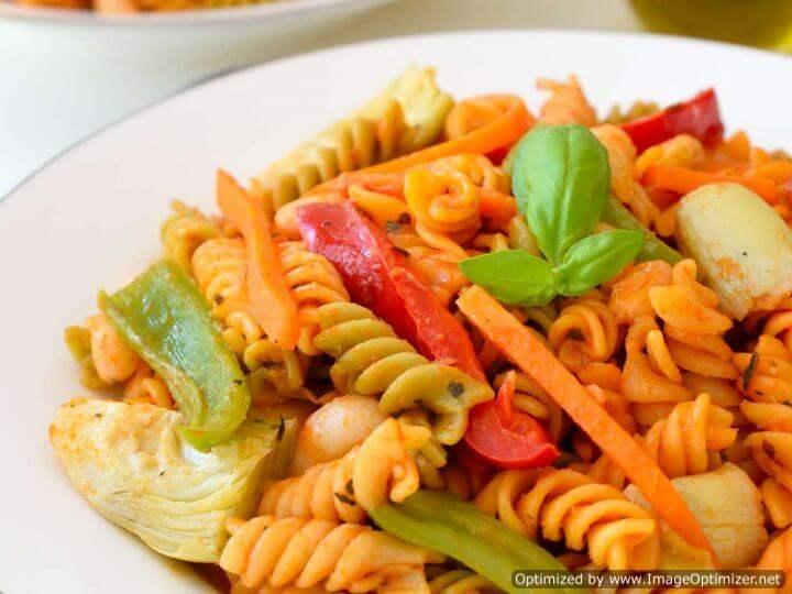 پاستا فوسیلی سبزیجات 500 گرمی زر در کارتن 20 عددی