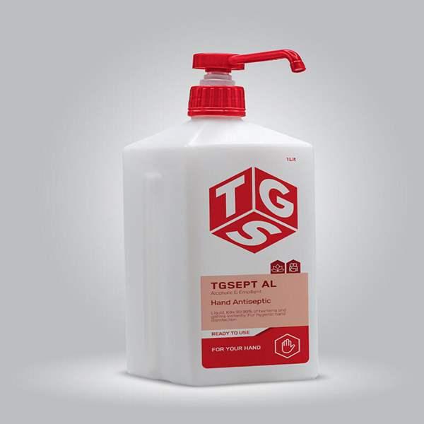 عکس شاخص محلول ضدعفونی کننده 1 لیتری TGS در کارتن 9 عددی