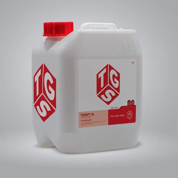 عکس شاخص محلول ضدعفونی کننده 4 لیتری TGS در کارتن 2 عددی