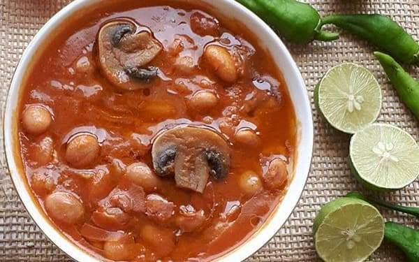 خوراک لوبیا چیتی با قارچ 430 گرمی بدر در کارتن 12 عددی
