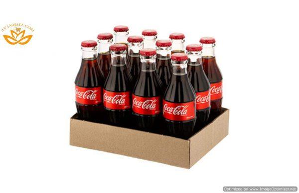 نوشابه کوکاکولا 250 میلی لیتری در بسته بندی 12 عددی