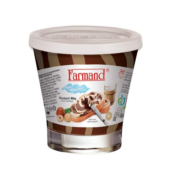 شکلات صبحانه دورنگ فندقی 110 گرمی فرمند در کارتن 24 عددی