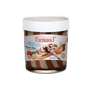 عکس شاخص شکلات صبحانه 200 گرمی دورنگ فندقی فرمند در کارتن 24 عددی