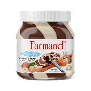 عکس شاخص شکلات صبحانه 350 گرمی دورنگ فندقی فرمند در کارتن 12 عددی