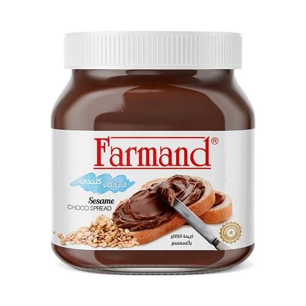 عکس شاخص شکلات صبحانه 350 گرمی کنجدی فرمند در کارتن 12 عددی