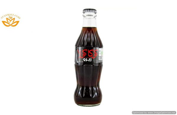 نوشابه کوکاکولا زیرو 250 میلی لیتری در بسته بندی 12 عددی