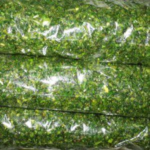 عکس شاخص،سبزی کوکو خرد شده آماده مصرف در بسته 10 کیلوگرمی