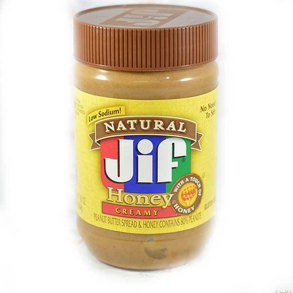عکس شاخص،کره بادام زمینی 454 گرمی جیف مدل honey creamy در کارتن 12 عددی