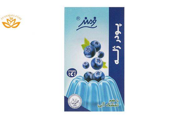 پودر ژله 100 گرمی فرمند با طعم تمشک آبی در 6 بسته 9 عددی