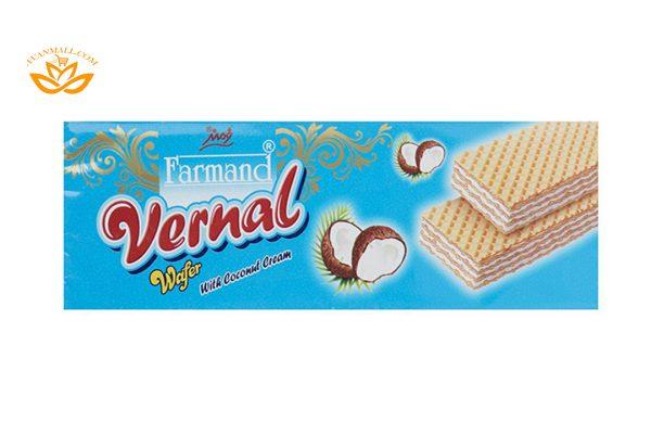 ویفر ورنال 190 گرمی فرمند با طعم نارگیلی در کارتن 12 عددی