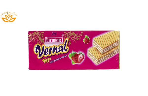 ویفر ورنال 190 گرمی فرمند با طعم توت فرنگی در کارتن 12 عددی