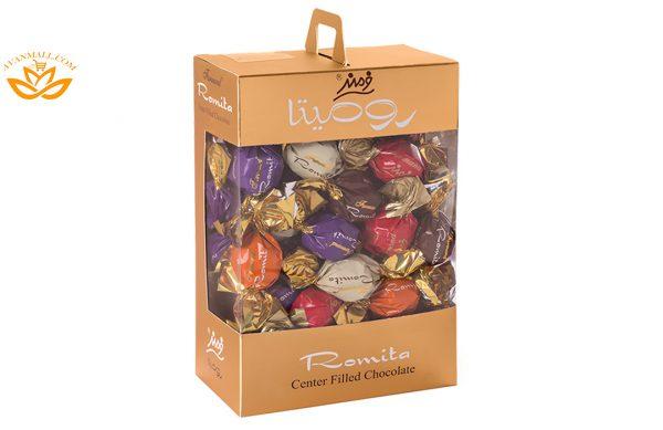 شکلات کادوئی رومیتا میکس طرح لبخند 400 گرمی فرمند در کارتن 6 عددی
