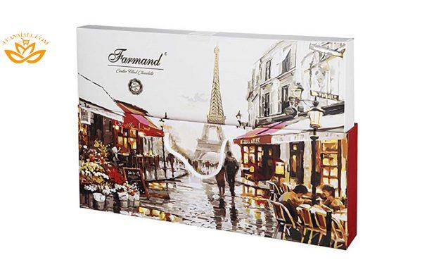 شکلات کادوئی لوکس 254 گرمی طرح پاریس در کارتن 5 عددی
